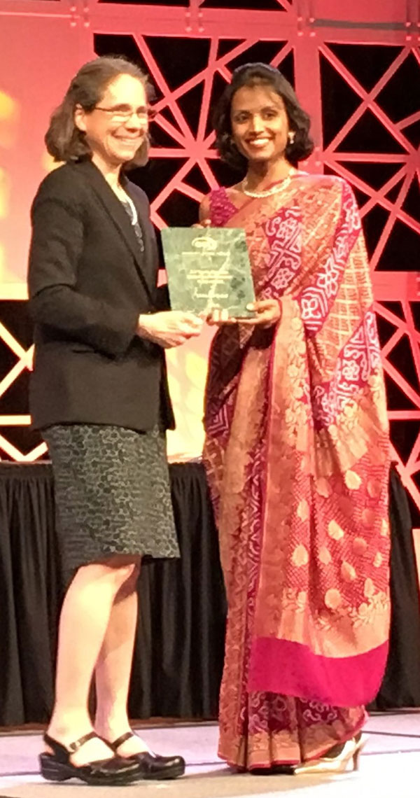 India's pride, Ms. Ishita Manjrekar, receives the American Concrete Institute Young Member Award for Professional Achievement in Milwaukee, USA